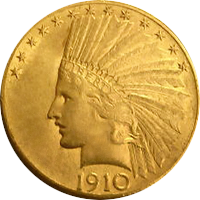 1910 Indian Head Gold Eagle