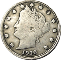 1910 Liberty Head V Nickel