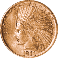 1911 D Indian Head Gold Eagle