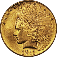 1911 Indian Head Gold Eagle