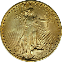 1913 D St Gaudens Double Eagle