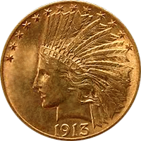 1913 Indian Head Gold Eagle