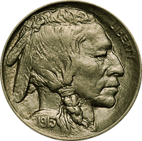 1913 P Buffalo Nickel