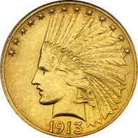 1913 S Indian Head Gold Eagle