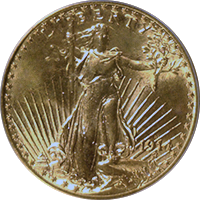 1914 D St Gaudens Double Eagle