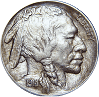 1914 S Buffalo Nickel