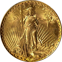 1914 S St Gaudens Double Eagle