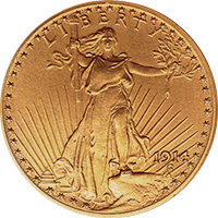 1914 St Gaudens Double Eagle