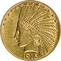 1915 Indian Head Gold Eagle