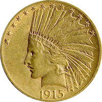 1915 S Indian Head Gold Eagle