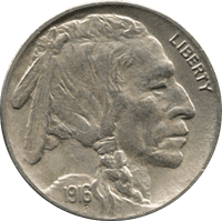 1916 P Buffalo Nickel