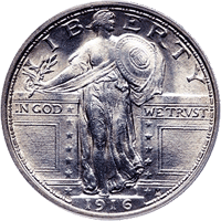 1916 Standing Liberty Quarter Value Cointrackers