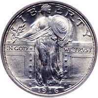 1916 Standing Liberty Quarter Value