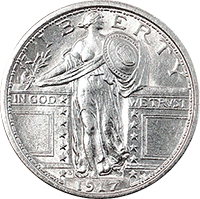 1917 D Standing Liberty Quarter Value Cointrackers