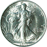 1917 D Walking Liberty Half Dollar