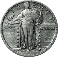 1917 S Standing Liberty Quarter Value Cointrackers