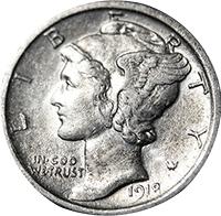 1918 D Mercury Dime Value | CoinTrackers