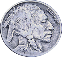 1918 P Buffalo Nickel