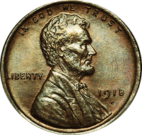 1918 S Wheat Penny