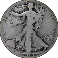 1919 D Walking Liberty Half Dollar