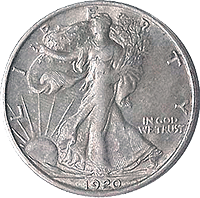 1920 D Walking Liberty Half Dollar