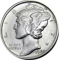 1920 Mercury Dime Value Cointrackers