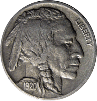 1920 P Buffalo Nickel