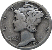 1920 S Mercury Dime Value Cointrackers