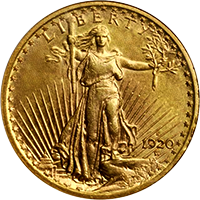 1920 S St Gaudens Double Eagle