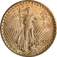 1920 St Gaudens Double Eagle