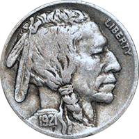 1921 P Buffalo Nickel