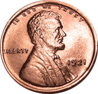 1921 S Wheat Penny