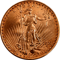 1921 St Gaudens Double Eagle