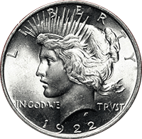 1922 Peace Dollar Value Cointrackers