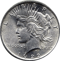 1922 S Peace Dollar Value Cointrackers