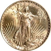 1922 S St Gaudens Double Eagle