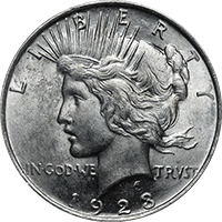 1923 Peace Dollar Value Cointrackers