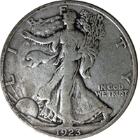 1923 S Walking Liberty Half Dollar