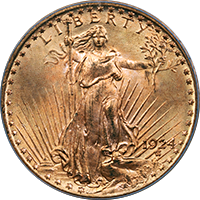 1924 S St Gaudens Double Eagle