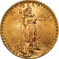 1925 D St Gaudens Double Eagle