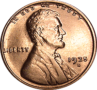 1925 S Wheat Penny