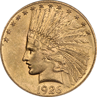 1926 Indian Head Gold Eagle
