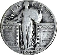1926 S Standing Liberty Quarter Value