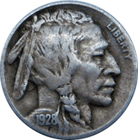 1928 P Buffalo Nickel