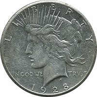 1928 S Peace Dollar Value Cointrackers