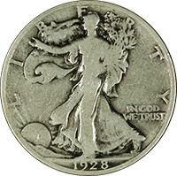 1928 S Walking Liberty Half Dollar