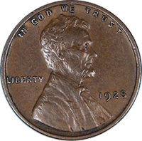 1928 S Wheat Penny