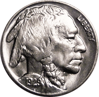 1929 S Buffalo Nickel