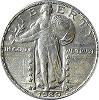 1929 S Standing Liberty Quarter Value Cointrackers