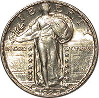1929 Standing Liberty Quarter Value Cointrackers